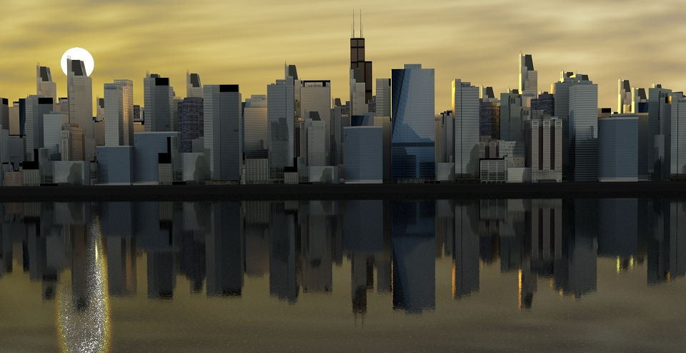 Create A City Scene With Replicated Free 3D Buildings