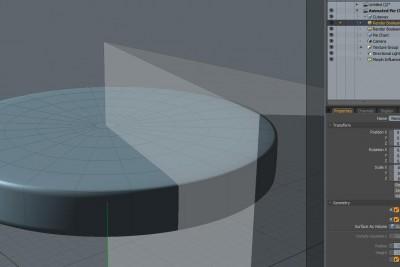 Render Boolean Animation Cutaway