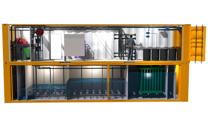 water treatment 3D graphics visualization