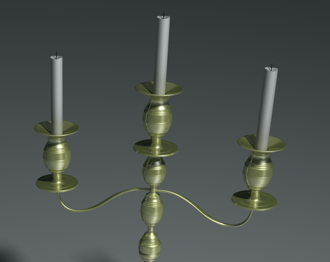 Deluxe candle holder ethereal 3d online store for Candele on line