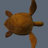 3D-015 Turtle Sculpture Top