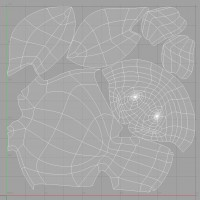 3D-015 Turtle Sculpture_UV Map
