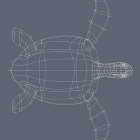 3D-015 Turtle Sculpture_Wire