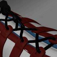 3D-024 Running Shoe_Laces Detail