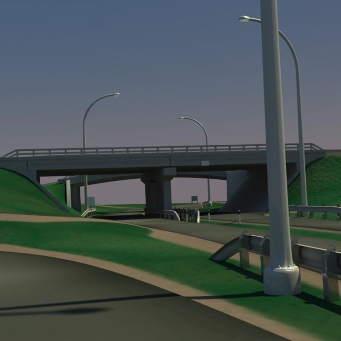 3D-027 HighWay Overpass