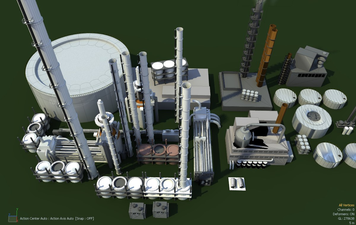 Oil Refinery | Ethereal 3D - Online Store