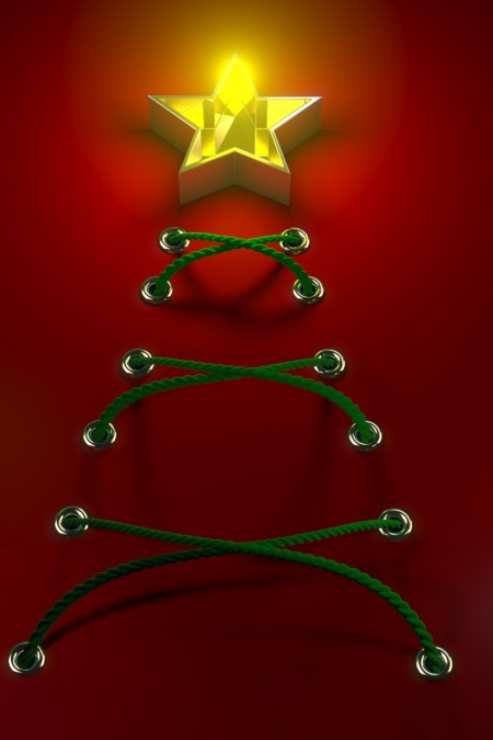 Rope Christmas Tree 01