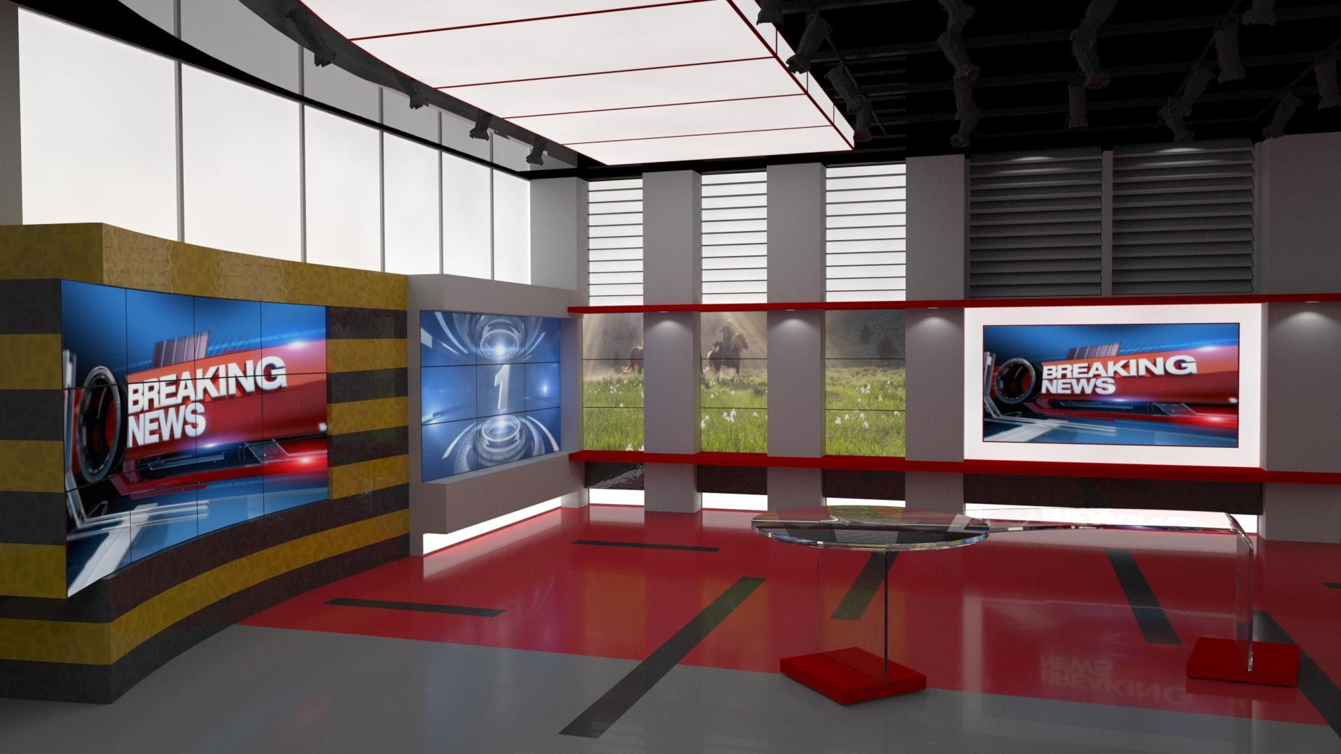 Broadcast News Room / Studio   Ethereal 3D - Online Store