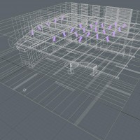 News Studio 3D Model wireframe2