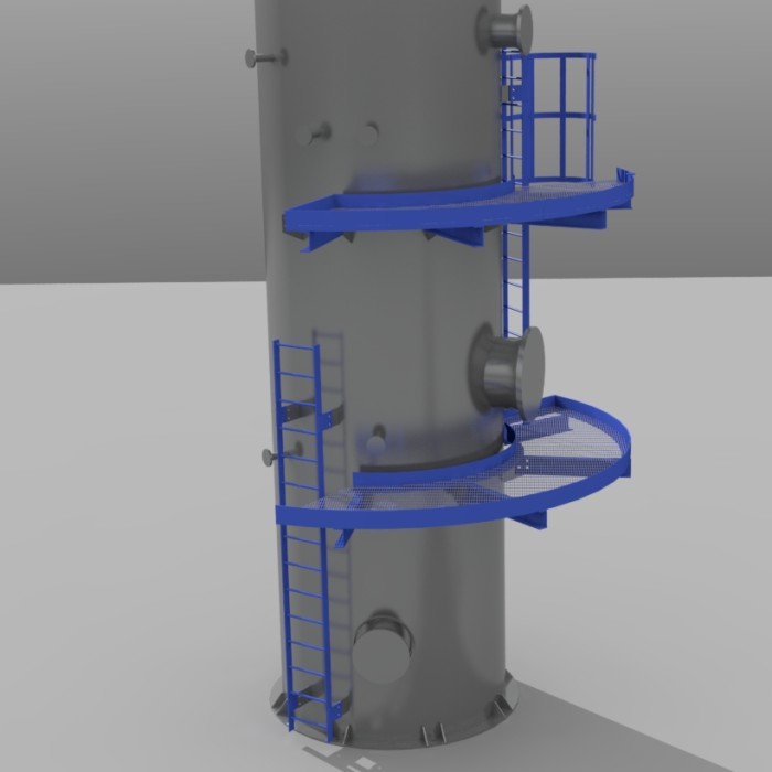 De-aerator stackup