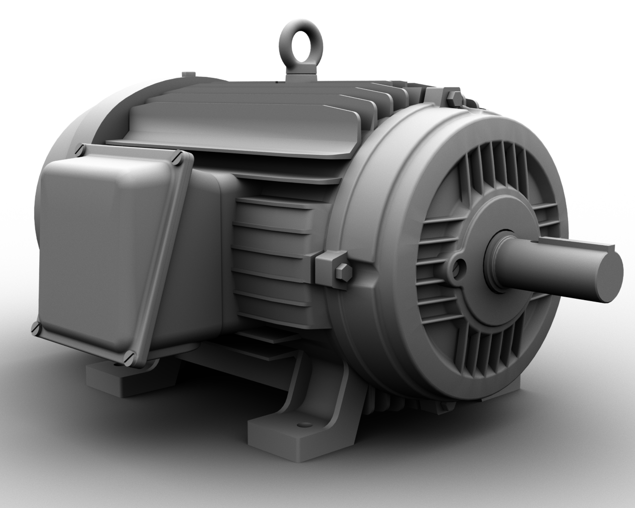 Industrial Electric Motor Ethereal 3d Online Store