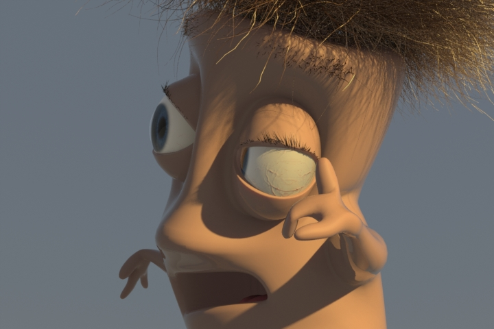 modo rigging character example render