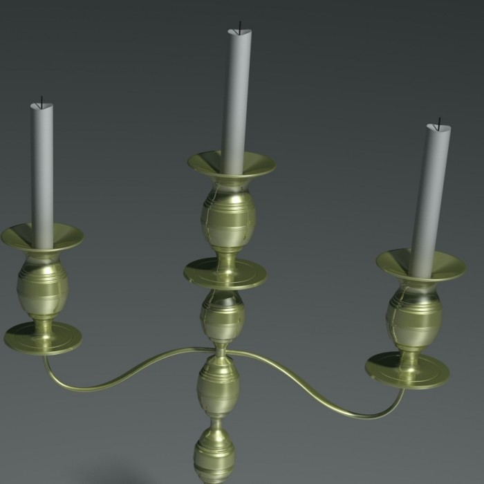 3D-006 Deluxe Candle Holder