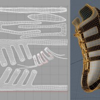 3D-024 Running Shoe_Leather UV