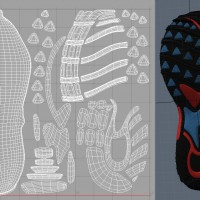 3D-024 Running Shoe_Tread UV