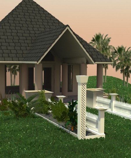 3D-026 Small Wedding Chapel