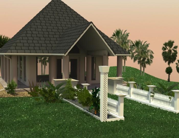 3D-026 Small Wedding Chapel