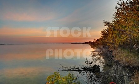 STK026_Lake at Dawn, Sunrise Mist.444x268