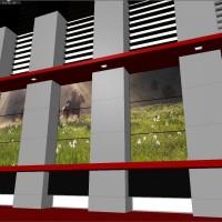 News Studio 3D Object - TV Wall Units