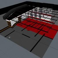 News Studio 3D Model wireframe
